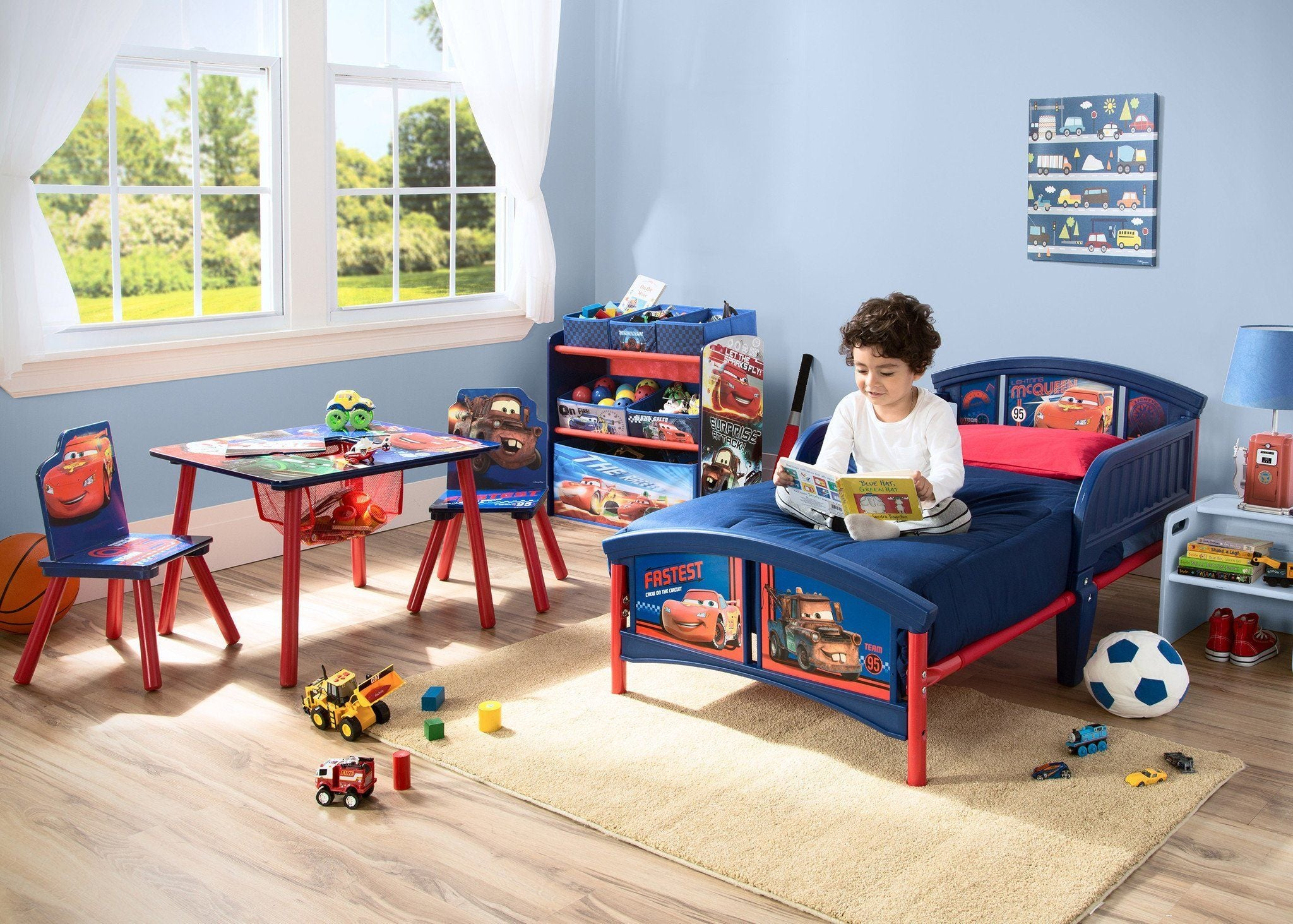 ... Delta Children Cars Table and Chair Set Toykeep Room View a0a ... & Cars Table u0026 Chair Set with Storage | Delta Children