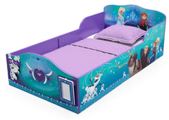 Delta Children Frozen Wood Toddler Bed with Track Buddies, Left View a2a