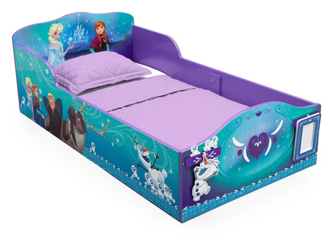 Frozen Wood Toddler Bed with Track Buddies