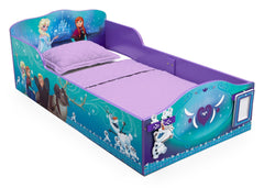 Delta Children Frozen Wood Toddler Bed with Track Buddies, Right View a1a