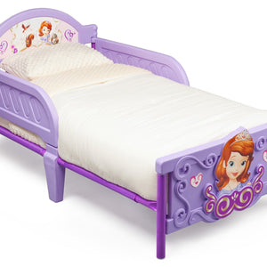 Delta Children Sofia the First 3D Toddler Bed, Right View a1a