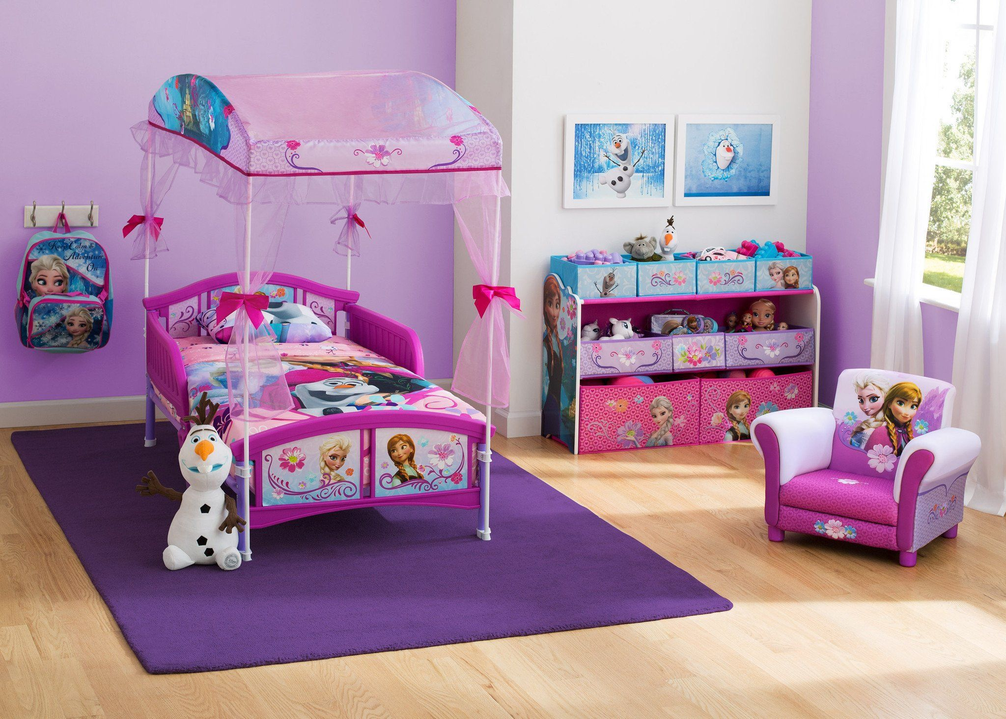 ... Delta Children Frozen Canopy Toddler Bed Room View A1a
