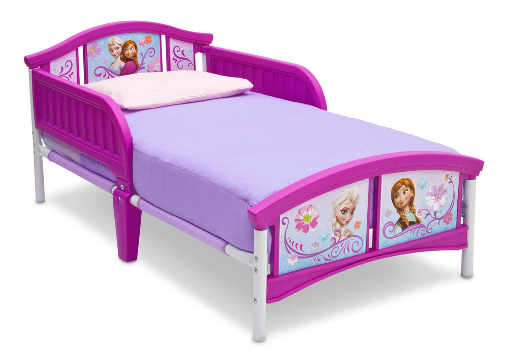 Delta Children Frozen Plastic Toddler Bed Right Side View a2a