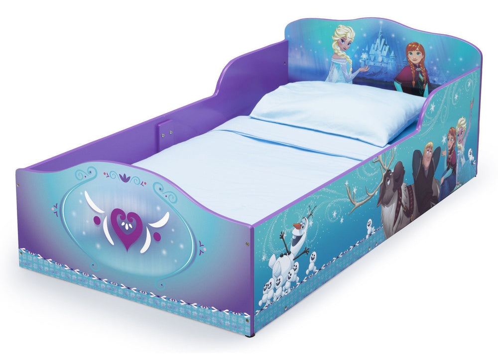 Delta Children Frozen Wood Toddler Bed, Left View a2a