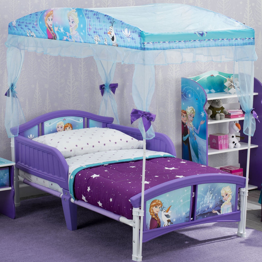 Delta Children Frozen Canopy Toddler Bed, Room View a0a