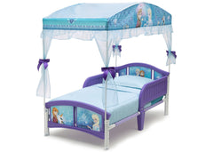 Delta Children Frozen Canopy Toddler Bed, Left View a2a