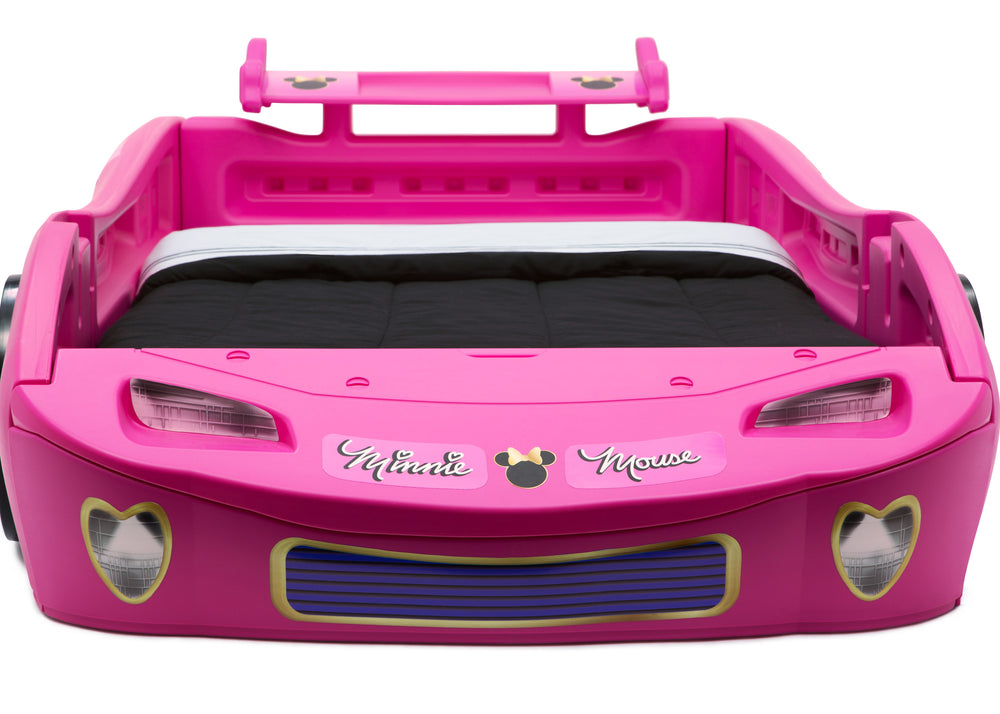 Delta Children Minnie Mouse Car Twin Bed, Front Detail View