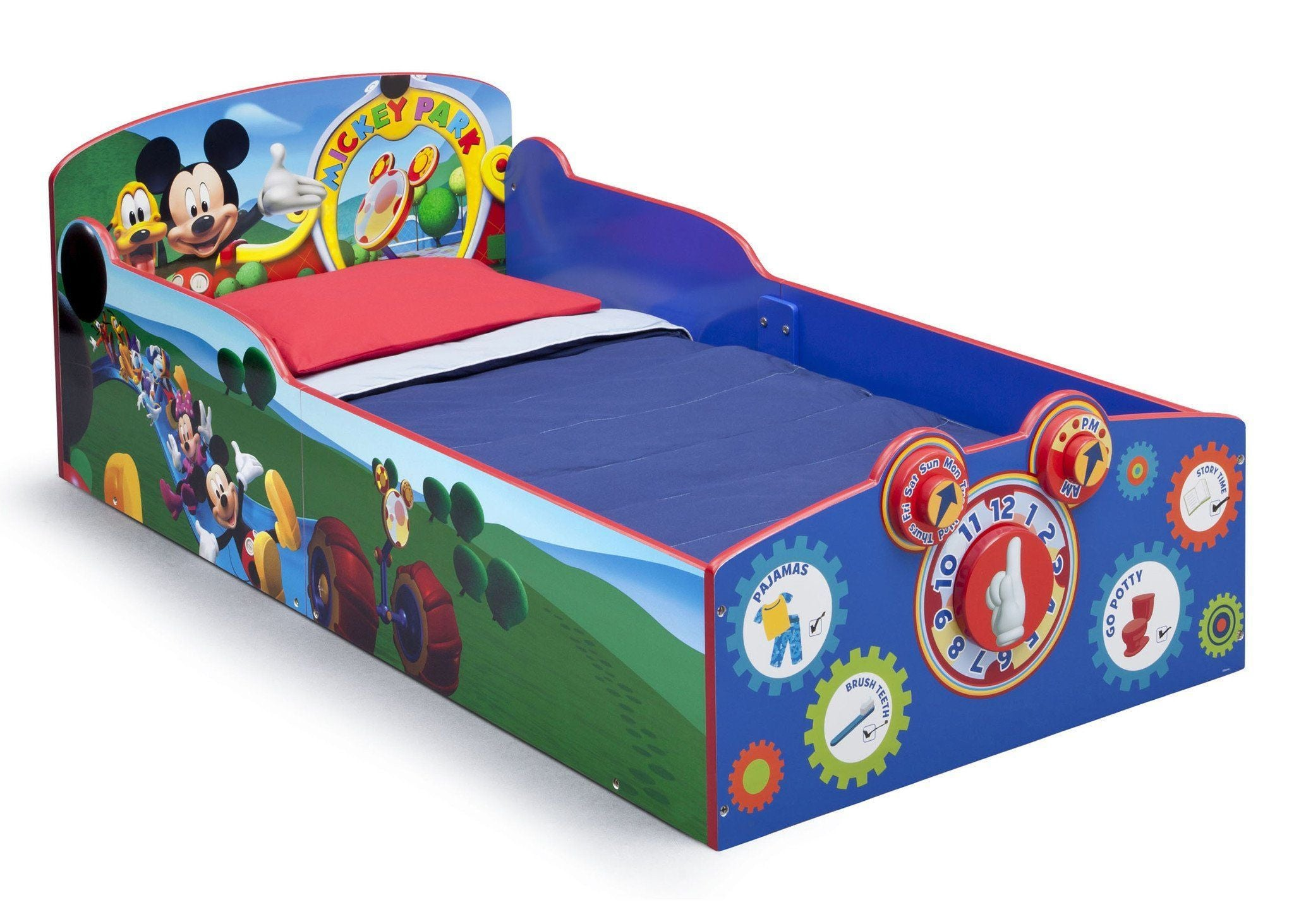 Delta Children Mickey Mouse Interactive Wood Toddler Bed Right View A1a