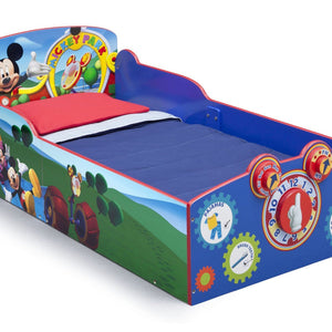 Delta Children Mickey Mouse Interactive Wood Toddler Bed, Right View a1a