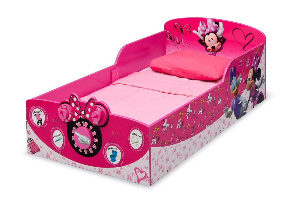 Delta Children Minnie Mouse Interactive Wood Toddler Bed, Left View a2a