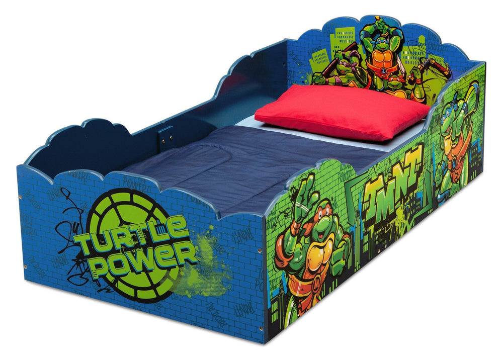 Delta Children Teenage Mutant Ninja Turtles Wood Toddler Bed, Left View a2a