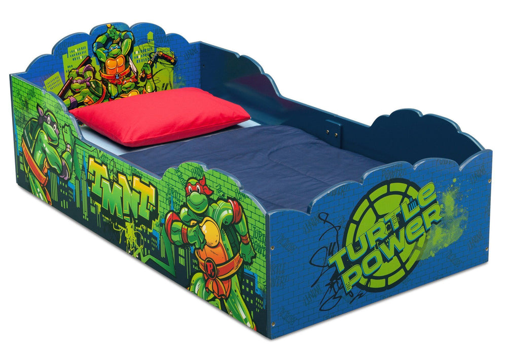 Delta Children Teenage Mutant Ninja Turtles Wood Toddler Bed, Right View a1a