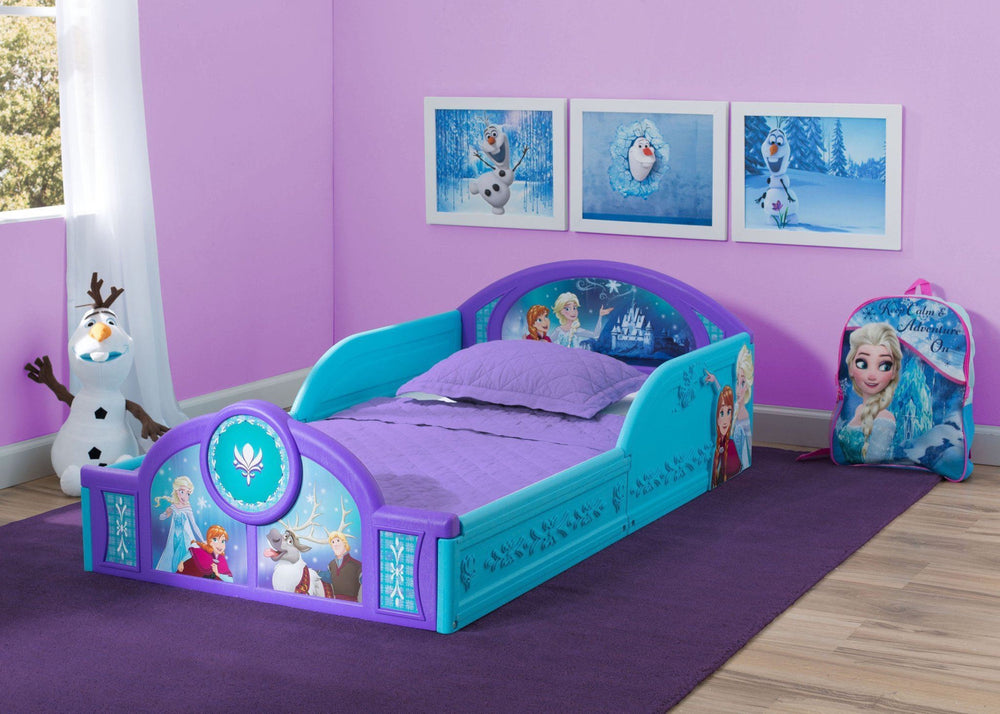 Delta Children Disney Frozen Deluxe Toddler Bed Style 1, Room  a1a