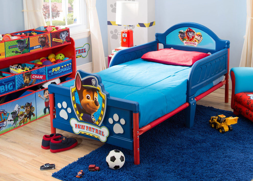 Paw Patrol Kids Toy Organizer Bin Children S Storage Box: PAW Patrol 3D Toddler Bed
