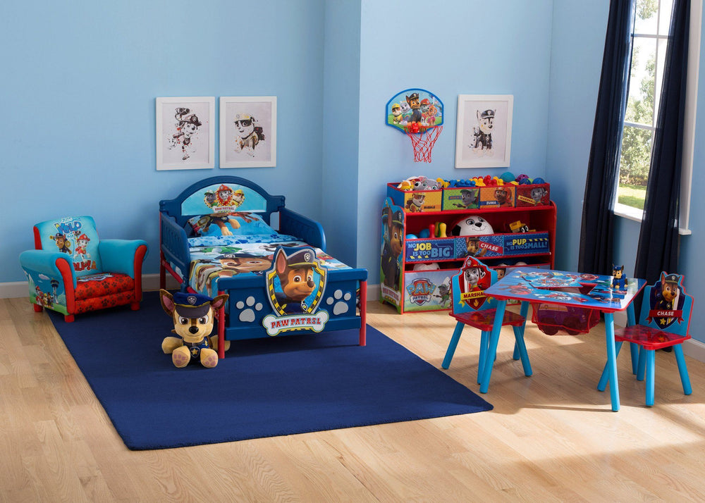 Delta Children PAW Patrol 3D Toddler Bed, Room View a1a