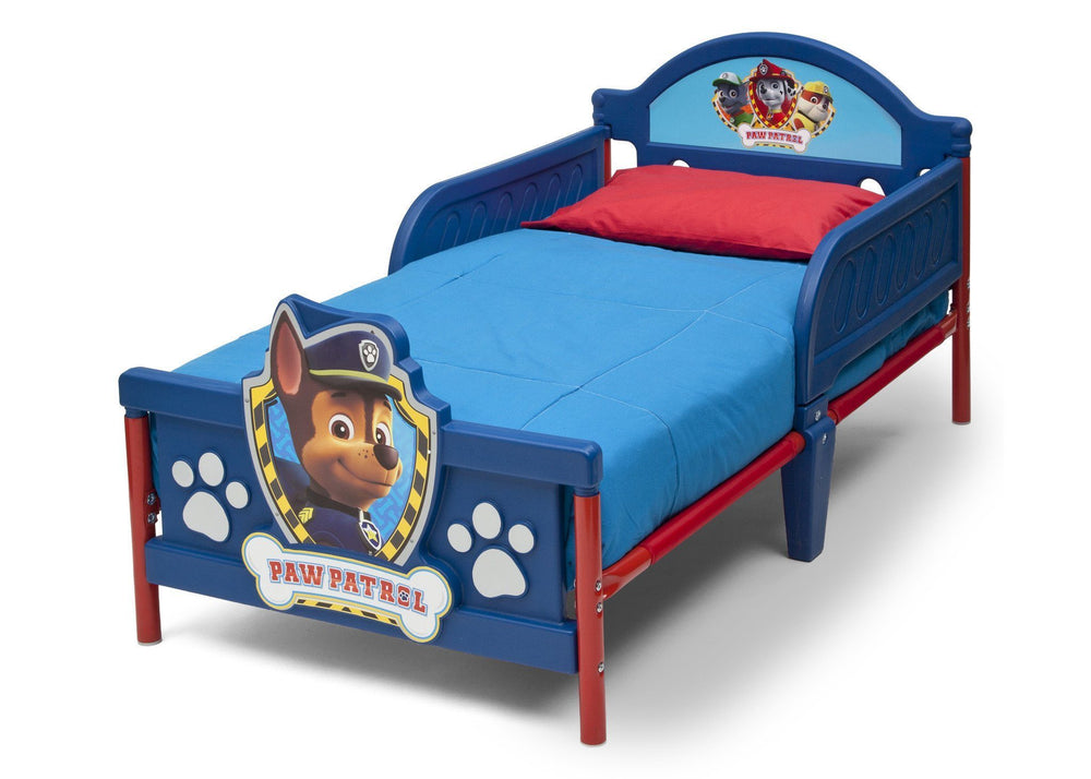 Delta Children PAW Patrol 3D Toddler Bed, Left View a3a
