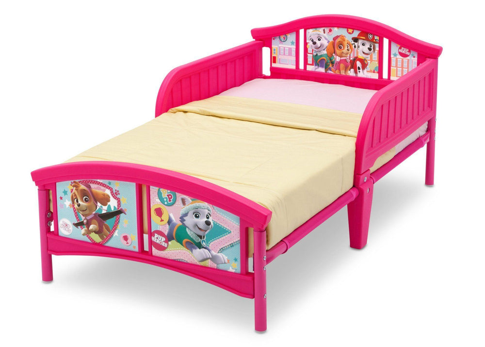 PAW Patrol, Skye & Everest Plastic Toddler Bed, Left View a2a