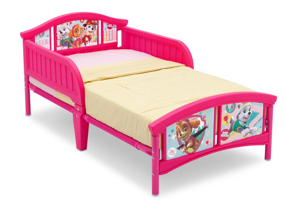 PAW Patrol, Skye & Everest Plastic Toddler Bed, Right View a1a