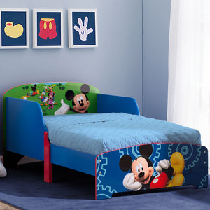 Mickey Mouse Wood Toddler Bed