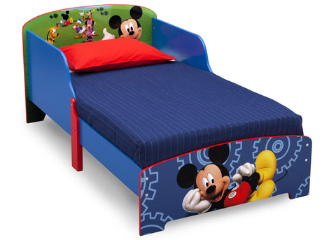 Charmant Mickey Mouse Wood Toddler Bed