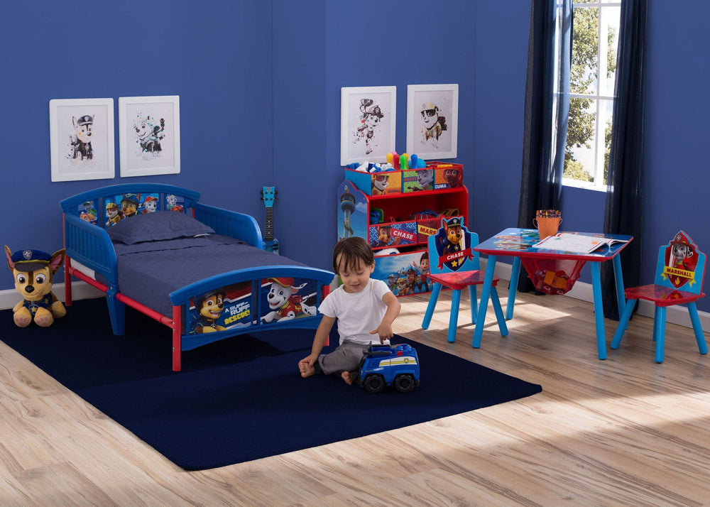 Delta Children PAW Patrol Table & Chair Set with Storage Style 1, Room with Model a3a