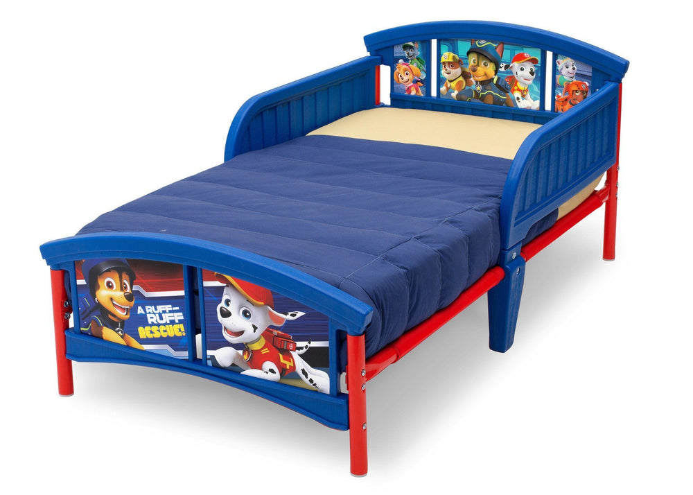 Delta Children PAW Patrol Plastic Toddler Bed Left View a4a