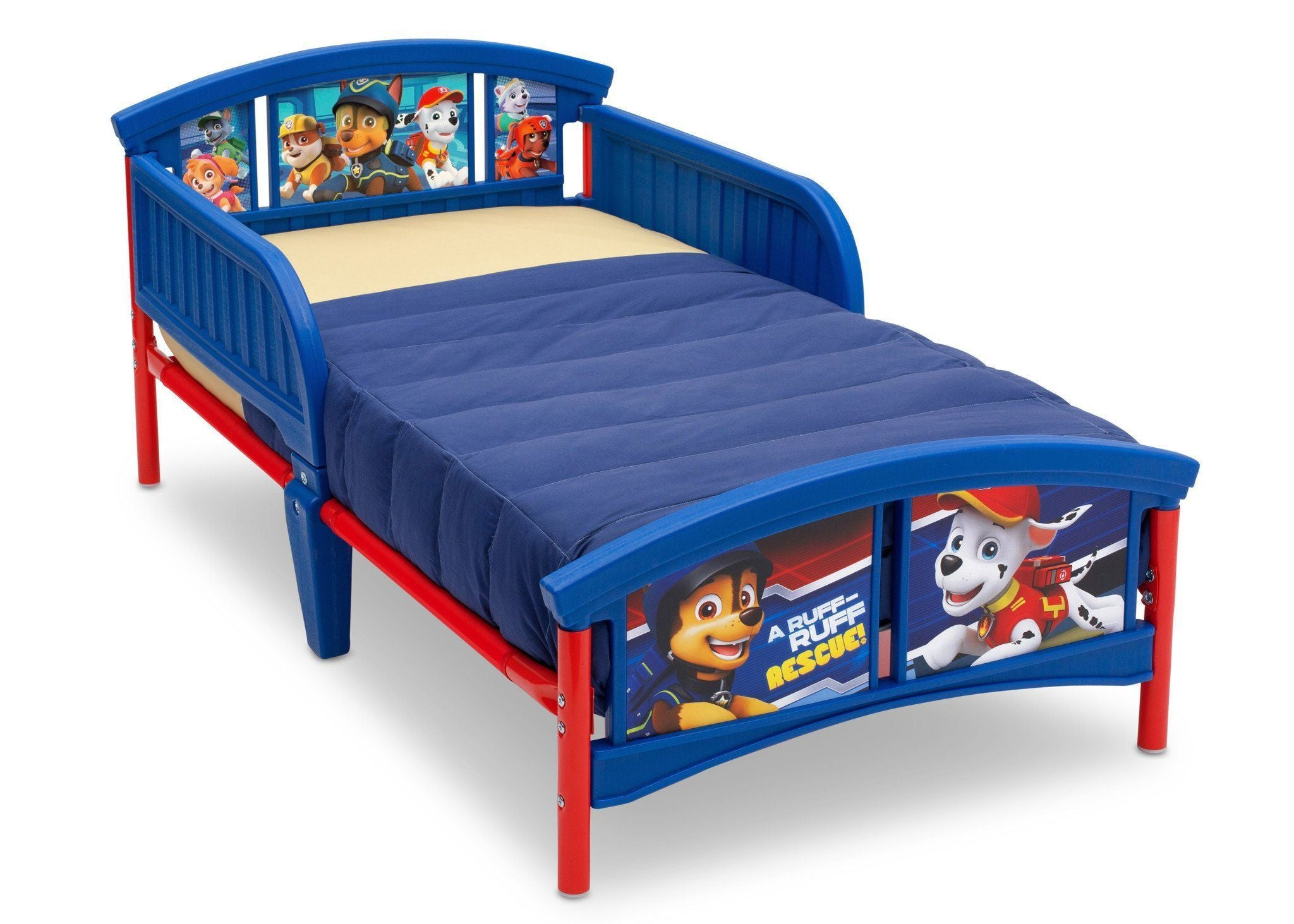 Delta Children PAW Patrol Plastic Toddler Bed Right View A3a ...