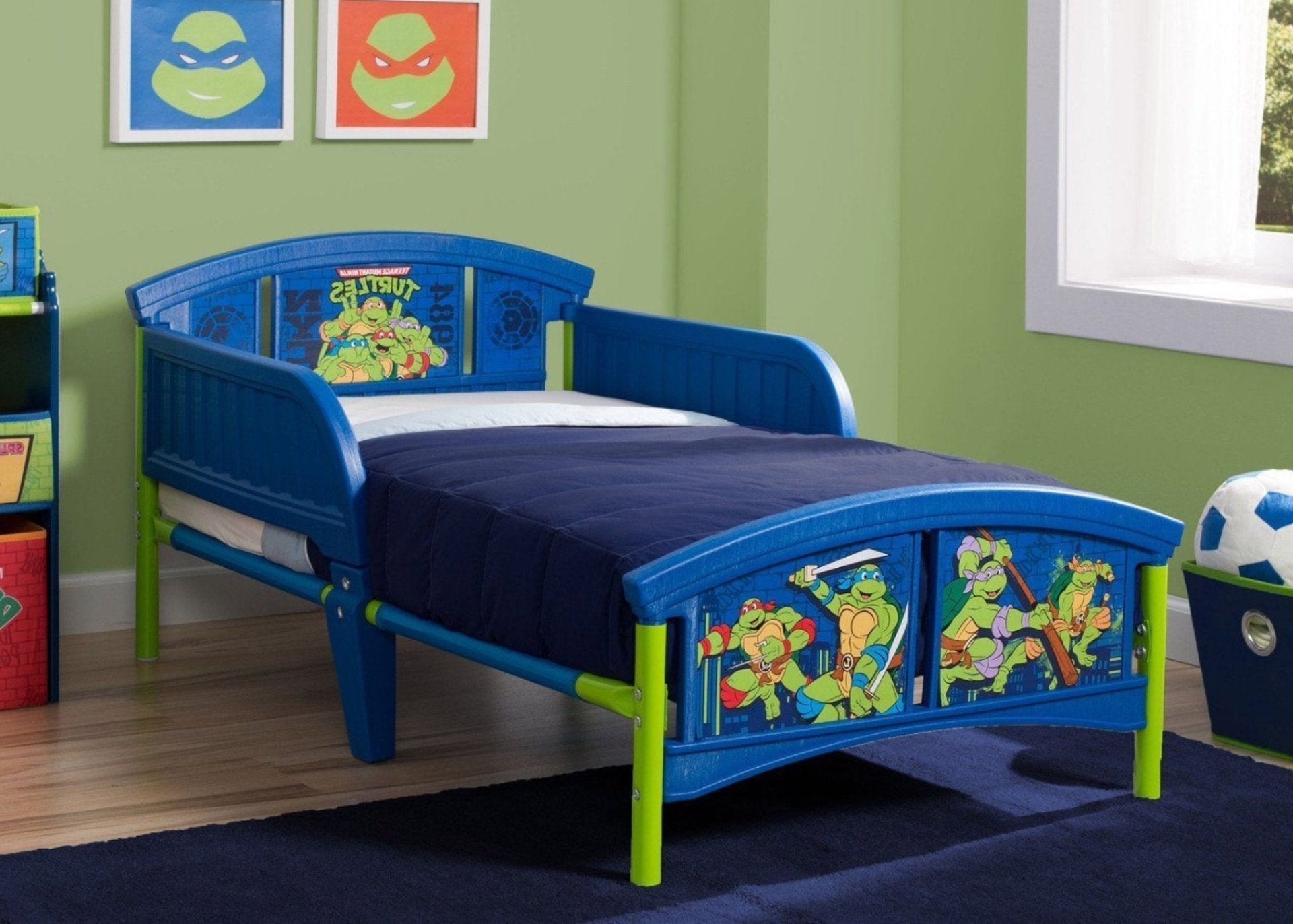 Teenage Mutant Ninja Turtles Plastic Toddler Bed, Hangtag View a2a