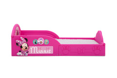 Delta Children Minnie Mouse Deluxe Toddler Bed with Attached Guardrails, Style-1 Side View a2a