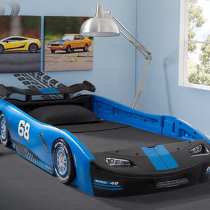 Turbo Race Car Twin Bed, Blue