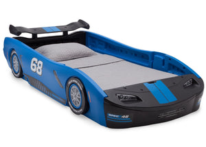 Delta Children Turbo Race Car Twin Bed, Blue and Black (485), Right View a3a