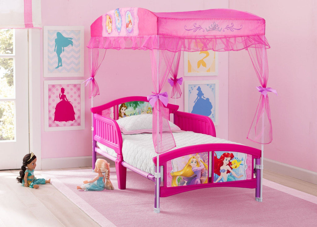 princess toddler canopy bed delta children. Black Bedroom Furniture Sets. Home Design Ideas