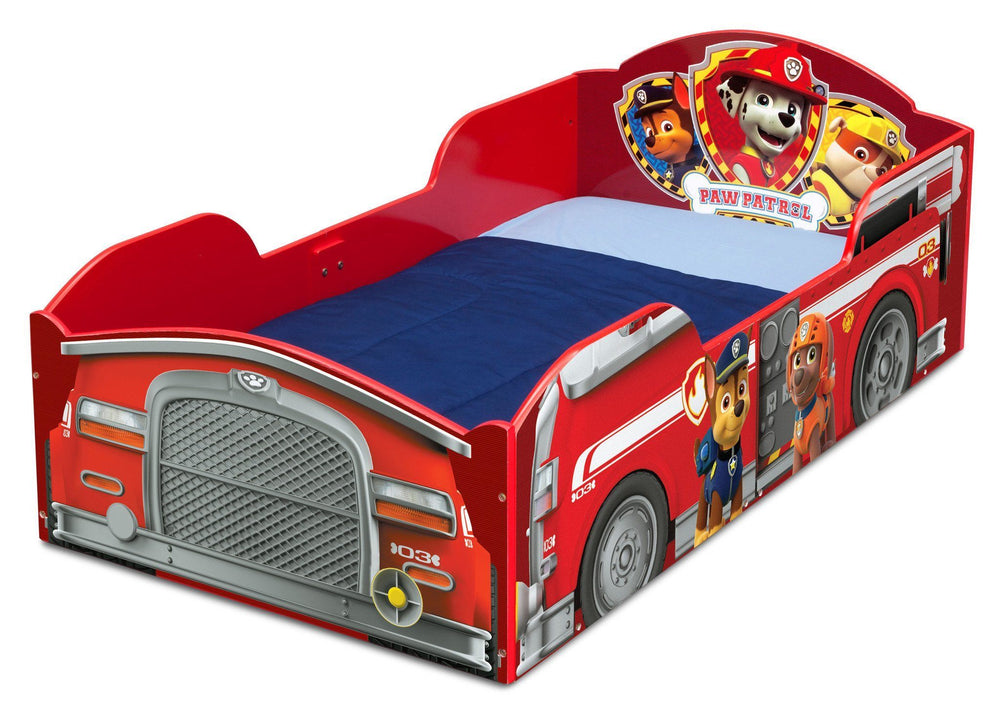 Delta Children PAW Patrol Wood Toddler Bed, Left View a2a
