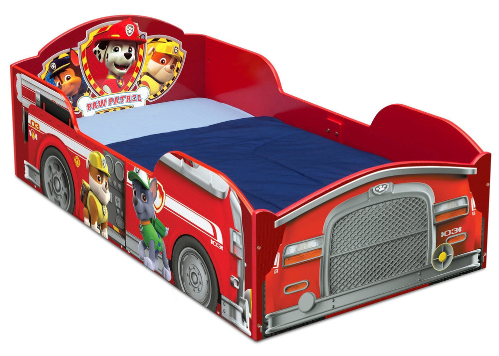 Delta Children PAW Patrol Wood Toddler Bed, Right View a1a