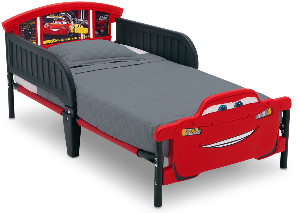 Delta Children Cars (1014) Cars 3D-Footboard Toddler Bed (BB87058CR), Right Silo, a2a