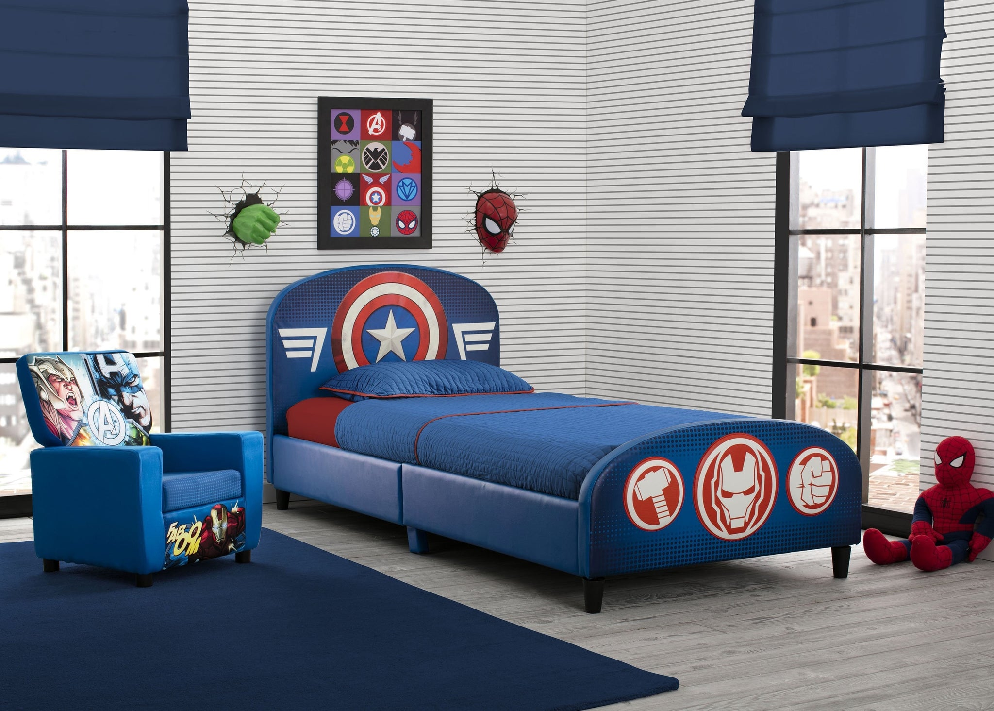 Delta Children Avengers Upholstered Twin Bed Avengers (1160), Room View