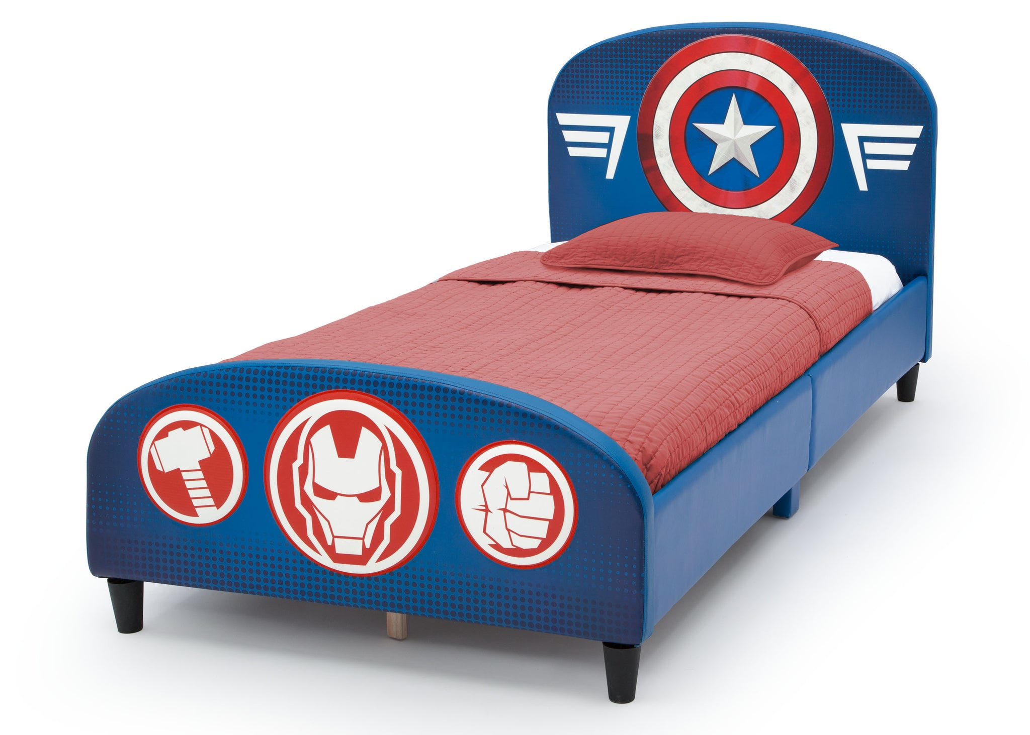 Delta Children Avengers Upholstered Twin Bed Avengers (1160), Left Silo