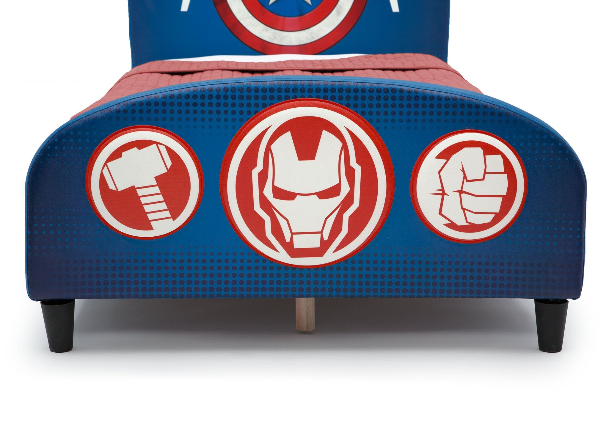 Delta Children Avengers Upholstered Twin Bed Avengers (1160), Footboard