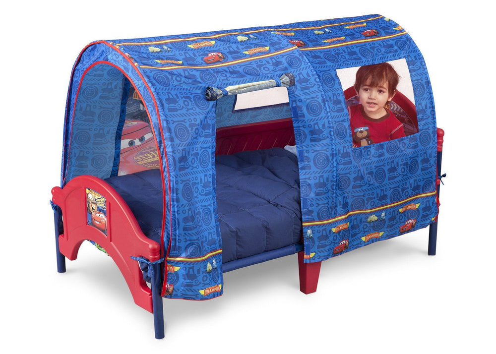 Delta Children Cars Tent Toddler Bed Left Side View a2a