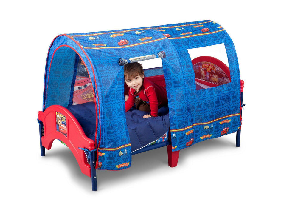 Delta Children Cars Tent Toddler Bed Left Side View