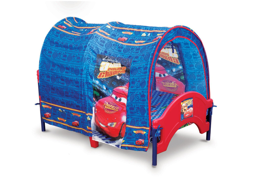 Delta Children Cars Tent Toddler Bed Right Side View a1a
