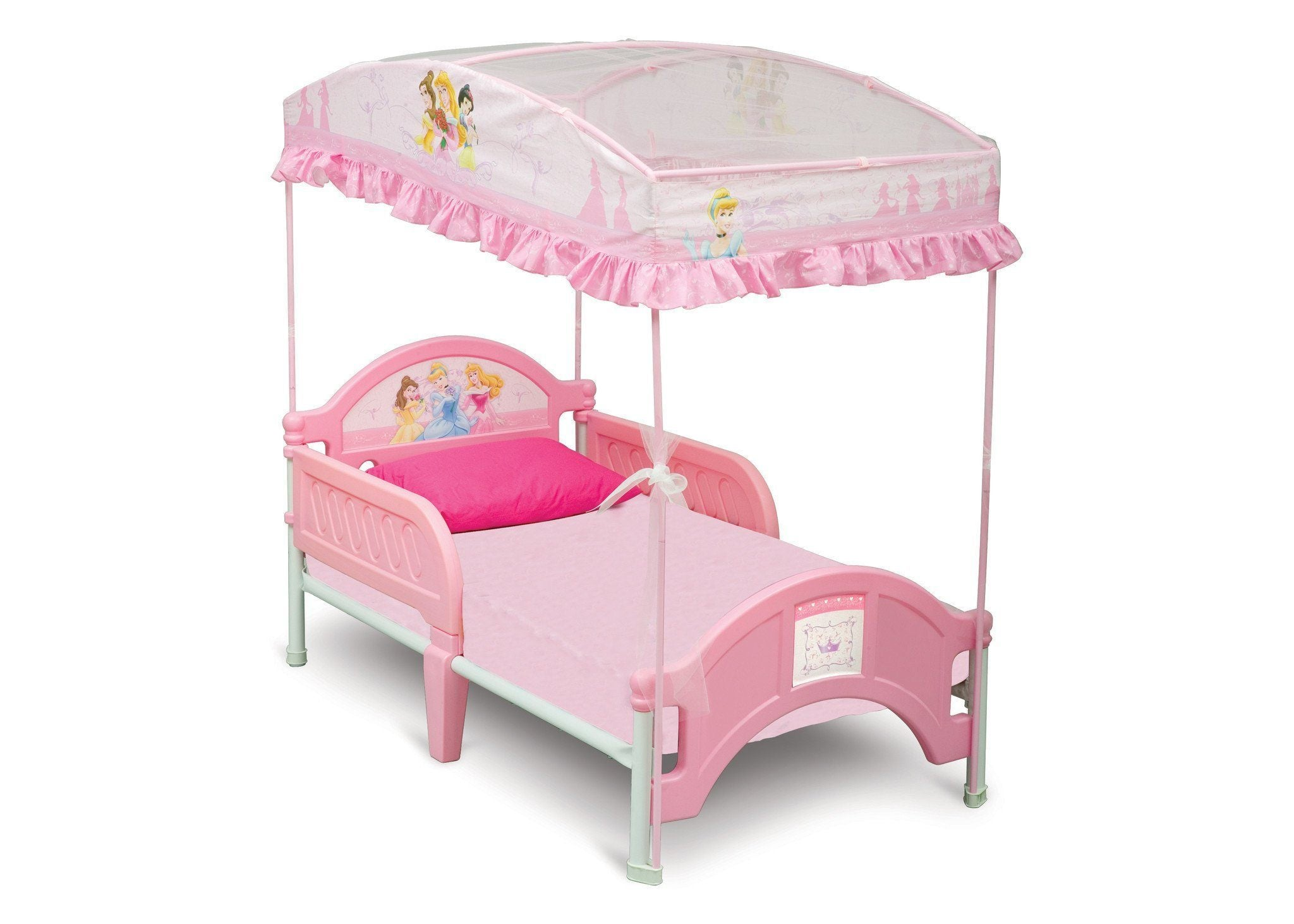 - Princess Toddler Canopy Bed – Delta Children