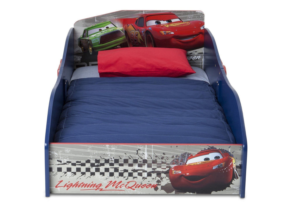Delta Children Cars Wood Toddler Bed Front View