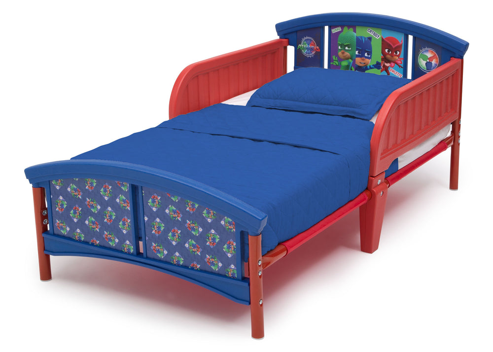 Delta Children PJ Masks Plastic Toddler Bed (BB87130PJ-1170), Left Angle, a2a
