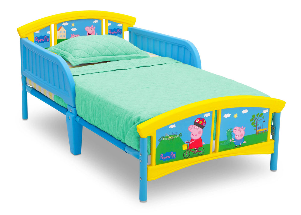 Delta Children Peppa Pig Plastic Toddler Bed (BB87131PG-1171), Right Angle, a1a