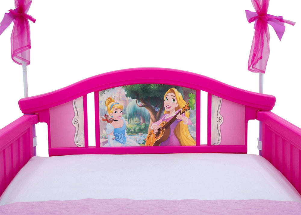Delta Children Princess Canopy Toddler Bed Detail Headboard View a5a
