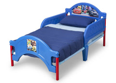 Delta Children Cars Toddler Bed Left Side View Blue a2a