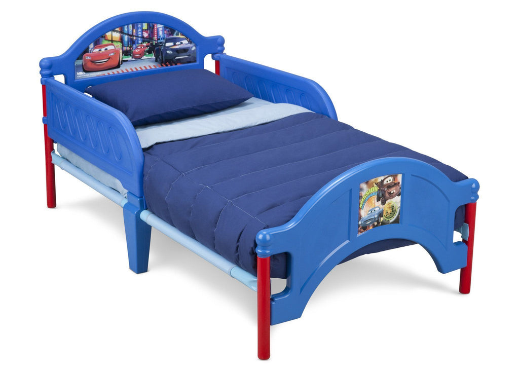 Delta Children Cars Toddler Bed Right Side View Blue a1a