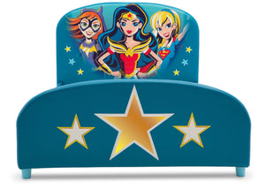 Delta Children DC Superhero Girls Upholstered Twin Bed Super Hero Girls (1205), Footboard Silo View