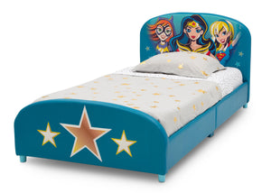 Delta Children DC Superhero Girls Upholstered Twin Bed Super Hero Girls (1205), Left Silo View